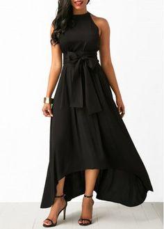 Belted Asymmetric Hem Black Maxi Dress and Cardigan Maxi Dress Summer, Maxi Dress Wedding, Summer Dresses, Dress With Cardigan, Maxi Dress With Sleeves, Belted Dress, Belted Cardigan, Slit Dress, Black Cardigan