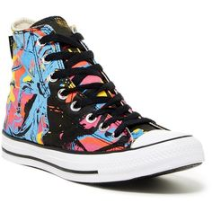 Converse Chuck Taylor Warhol High Top Sneaker (Unisex) ($40) ❤ liked on Polyvore featuring shoes, sneakers, unisex sneakers, high top trainers, high top shoes, hi tops and converse shoes