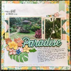 Close To My Heart National Scrapbooking Month - Postcard Perfect Scrapbook Layout www.maz.closetomyheart.com.au