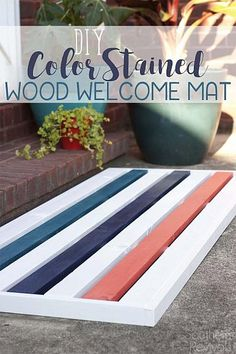 DIY Color Stained Wo