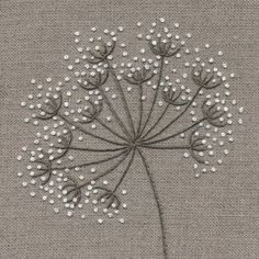 Hand Embroidery Patterns Flowers, Basic Embroidery Stitches, Hand Embroidery Videos, Embroidery Flowers Pattern, Simple Embroidery, Embroidery Techniques, Embroidery Kits, Diy Embroidery Letters, Indian Embroidery