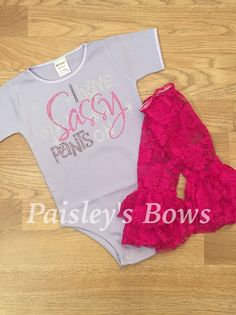 I have sassy pants on bling outfit by PaisleyBows on Etsy