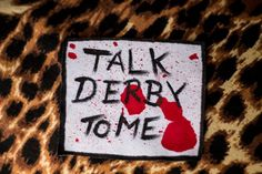 Talk Derby to Me Patch. Roller Derby Patch on Etsy, $1.38