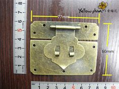 60*77 mm Antique Brass Color Box latch,lock latch,small jewelry box latch making wood box latch A026  you can put a small lock on it.  Set up it