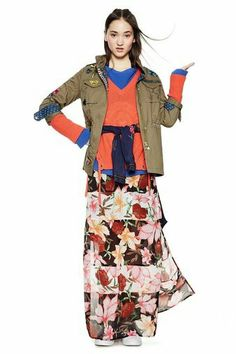 abd4c1b3fd Desigual ECLIPSE cotton jacket in military green with embroidered  butterflies. We also have this jacket in blue at our store in Vancouver,  Canada.