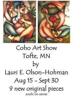 Art show ad by Leoh
