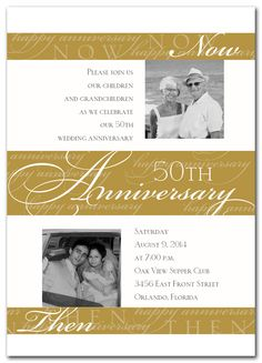 Gold Fiftieth Anniversary- Something like this in a frame, since we already have invites.