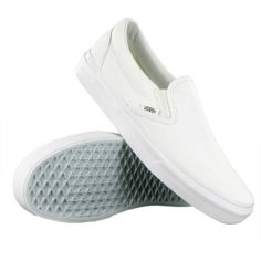 e4ce0bd63097f4 Cool Vans Classic Slip On White Womens Trainers