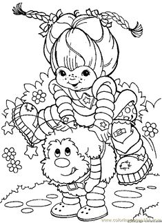 Rainbow brite Coloring Pages Online | ... coloring page Rainbow Bright Coloring Page 20 (Cartoons > Rainbow