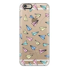 iPhone 6 Plus/6/5/5s/5c Case - Paper Planes in Pastel on Clear (55 AUD) ❤ liked on Polyvore