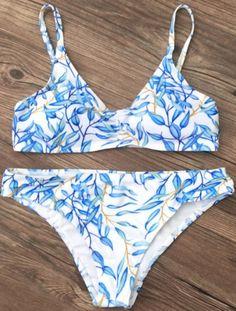 blue and white spaghetti strap bikini  available in sizes S,M,L