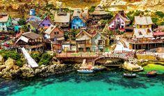 """Secondo la classifica stilata dal magazine online Fubiz.net, il villaggio di Braccio di Ferro a Malta, che nel 1980 fu il set del film della Disney """"Popeye"""", si aggiudica il titolo de """"Il borgo più bello al mondo"""""""