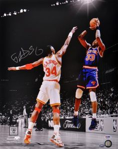 Patrick Ewing Autographed 16x20 Photo - PSA/DNA #SportsMemorabilia #NewYorkKnicks