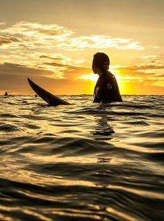 Surf at Sunset