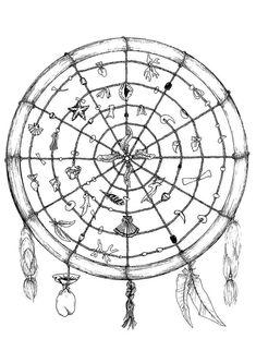 Medicine wheel mandala - Mandalas for kids
