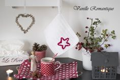 Vánoční dekorační chňapka s hvězdičkou