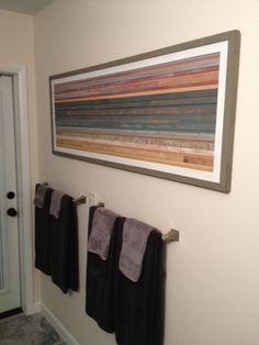 Coastal Reclaimed Wood Art 46 x 22 by RedHouseDesignStudio on Etsy, $460.00