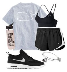 Sporty by kaylamhead16 on Polyvore featuring polyvore, fashion, style, NIKE, Alex and Ani, ban.do, Vineyard Vines and clothing