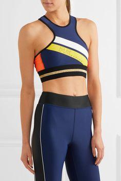 E Nation - The Asset Crop Metallic-trimmed Stretch Sports Bra - Royal blue - Pip Edwards, Best Sports Bras, Healthy Women, Girls Wear, Who What Wear, Fitness Fashion, Fitness Models, Fitness Motivation, Girl Fashion