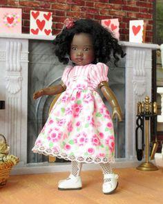 Valentine Pink Posies, Hearts & Stripes Dress for Riley Kish #Kish
