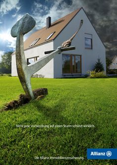 Not every prearrangement can really protect you from a storm. Real estate insurance from Allianz.