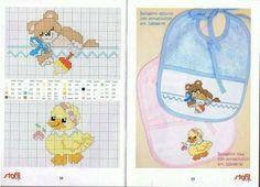 Cross Stitch For Kids, Cross Stitch Baby, Cross Stitch Animals, Cross Stitch Charts, Cross Stitch Designs, Cross Stitch Patterns, Baby Embroidery, Cross Stitch Embroidery, Embroidery Patterns