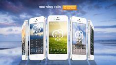 Morning Rain - iOS Weather App by Roberto Nickson, via Behance $0.99