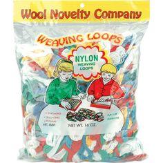 Wool Novelty Nylon Weaving Loops 16 Ounce Multi Color
