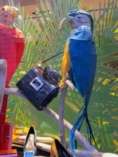 """ROGER VIVIER, Milan"""", Italy,""""The Parrot's Perch"""", close-up, pinned by Ton van der Veer"""