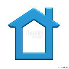 Realtor house logo. 3D rendering illustration