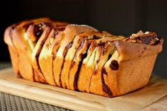 orange hazelnut pull apart bread