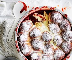 These are the sweet treats you need for winter. These self-saucing puddings are best served warm from the oven, preferably with an extra pour of cream. Trifle Pudding, Pudding Cake, Gourmet Recipes, Dessert Recipes, Milk Bun, Self Saucing Pudding, Winter Desserts, Strawberry Milk, Rhubarb Recipes