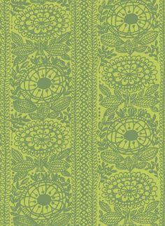 Vintage  Finlayson fabric Taimi design Aini Vaari 1961 is in reproduction .