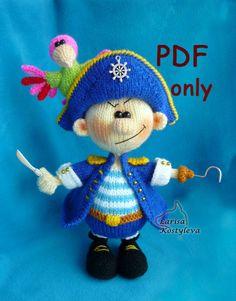 Pirate,knitting amigurumi,PDF pattern