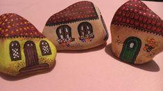 Casinhas em pedra - Pintado a mão
