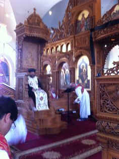 The hymn pekethronos (your throne is forever) during Pascha week at St. Riverside California, Priest, Cathedral, Christian, Furniture, Ideas, Cathedrals, Arredamento, Ely Cathedral