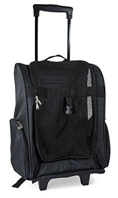 World Traveler Solid Black Rolling Pet Carrier Backpack -- This is an Amazon Affiliate link. You can get more details by clicking on the image.