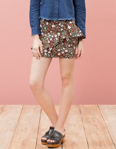 At Stradivarius you'll find 1 Fantasy frill skirt for woman for just 3.99 £ . Visit now to discover this and more SKIRTS.