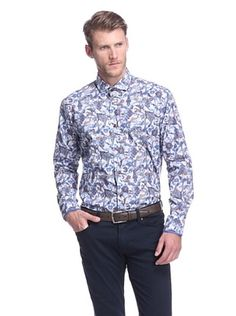 Bogosse Men's Giorgio Patterned Long Sleeve Sportshirt
