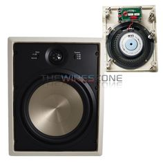 White 8 inch 150 Watt 6 Ohms In-Wall Home Theater Speaker (pair) In Wall Speakers, Home Theater Speakers, 2 Way, Fujifilm Instax Mini, Pairs