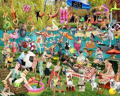 Art Print, Lake Art, Funny Art, Lake, Boating, Boating Art, Collage Art, Digital Art, 16x20 or 24x30, Gift, Unique Gift by AndreaMDesigns on Etsy Digital Collage, Digital Art, Lake Art, Boat Art, Collage Artists, Lake Life, Funny Art, Fun Prints, Boating