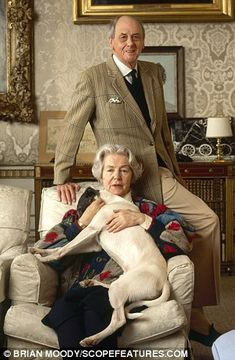 The Duke and Duchess of Devonshire at home in 1991