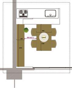 キッチンとの関係性 Desk In Living Room, House Information, T Lights, Japanese Interior, Small Apartments, Architecture, Home Kitchens, Decoration, Interior And Exterior