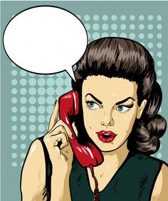 Illustration about Woman talking by phone with speech bubble. Vector illustration in retro comic pop art style. Illustration of portrait, female, blank - 74330597 Desenho Pop Art, Comics Vintage, Pop Art Background, Pop Art Women, Retro Phone, Pop Art Girl, Comic Art, Fashion Art, Pin Up