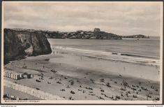 Beaches and Headland, Newquay, Cornwall, c.1920s - Postcard