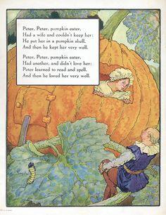 Peter Peter Pumpkin Eater ~ Frederick Richardson, Volland 1921