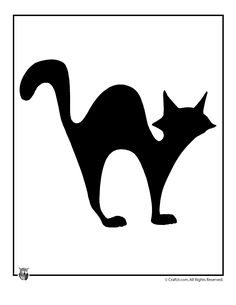 Printable Halloween Templates Black Cat Halloween Template – Craft Jr.