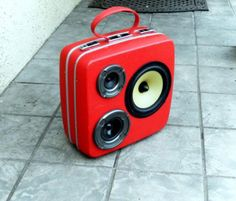 """I want someone to make me this!  BoomCase Upcycled Boomboxes ($385 - $551): Mr. Simo gives vintage suitcases a new lease on life by turning them into portable """"BoomCases"""" with audio input for your iPhone, iPod or any other device with a headphone jack."""