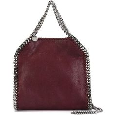 Stella McCartney Falabella Tote (3,955 SAR) ❤ liked on Polyvore featuring bags, handbags, tote bags, red, stella mccartney handbags, burgundy leather purse, red tote bag, burgundy tote and red handbags