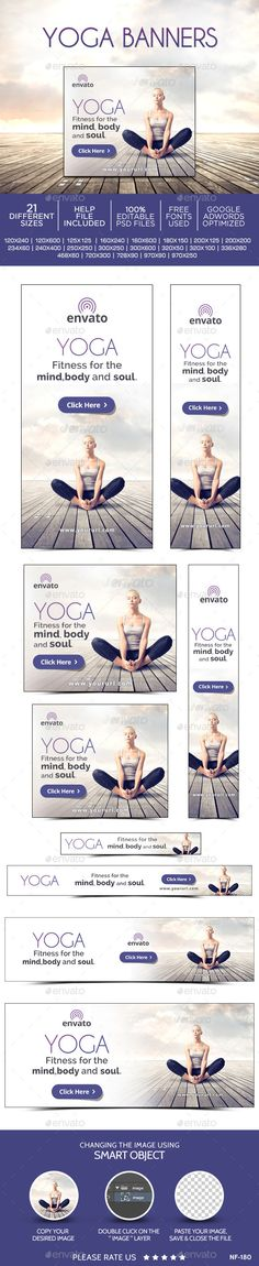 Yoga Web Banners Template PSD | Buy and Download: http://graphicriver.net/item/yoga-banners/9810179?ref=ksioks